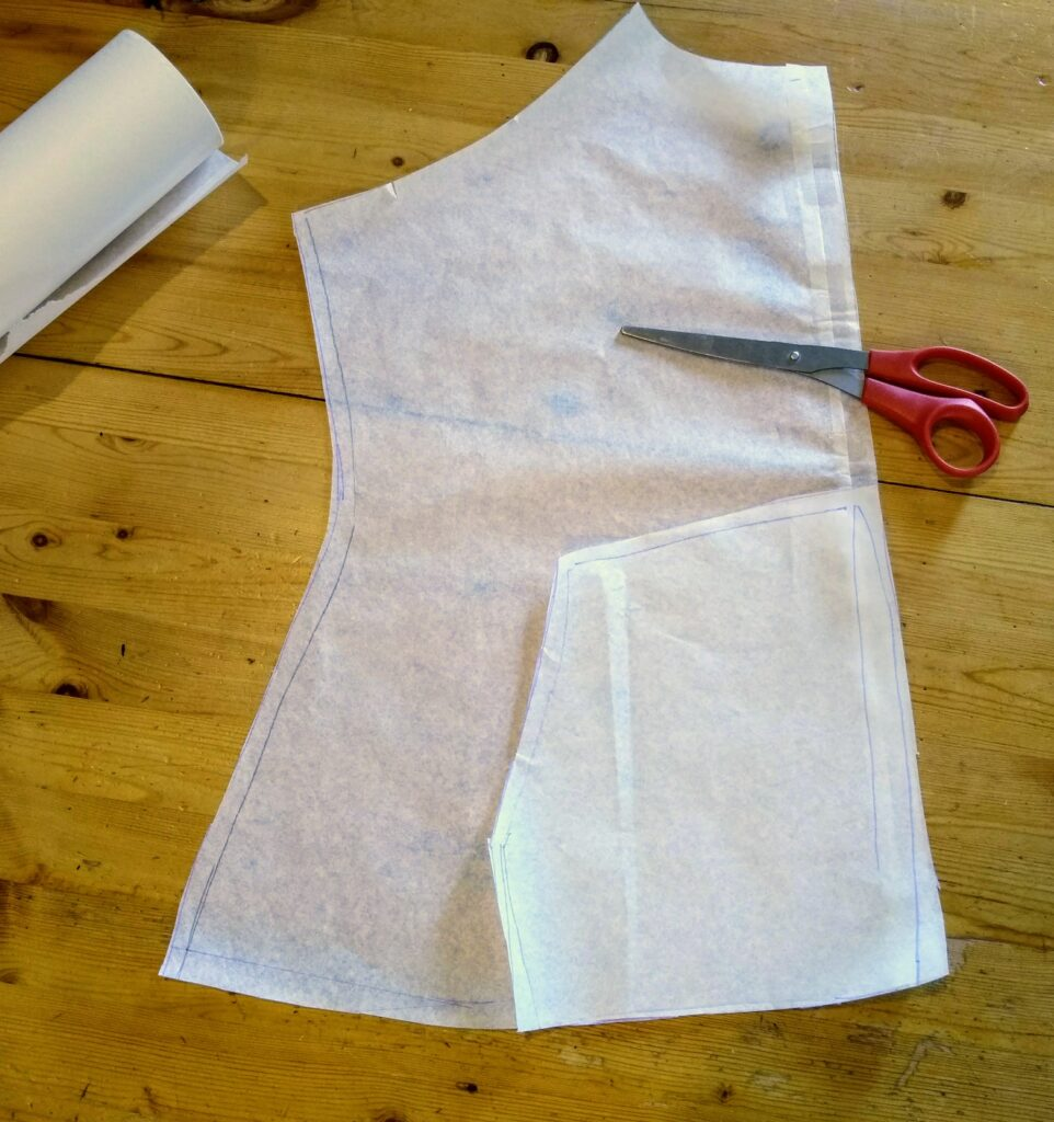 """Pattern Hacking – Turn a raglan t-shirt pattern into a cowl-necked, zippered """"hoody""""."""